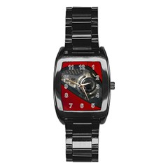 Auto Red Fast Sport Stainless Steel Barrel Watch