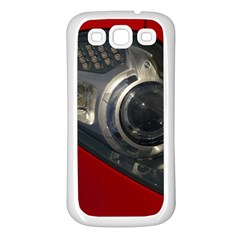 Auto Red Fast Sport Samsung Galaxy S3 Back Case (White)