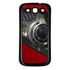Auto Red Fast Sport Samsung Galaxy S3 Back Case (Black)