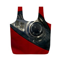 Auto Red Fast Sport Full Print Recycle Bags (M)