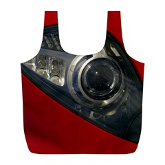 Auto Red Fast Sport Full Print Recycle Bags (L)