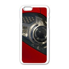 Auto Red Fast Sport Apple iPhone 6/6S White Enamel Case