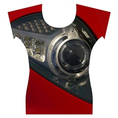 Auto Red Fast Sport Women s Cap Sleeve Top