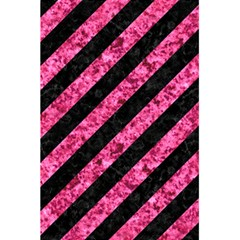 Stripes3 Black Marble & Pink Marble 5 5  X 8 5  Notebook