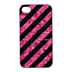 STR3 BK-PK MARBLE Apple iPhone 4/4S Hardshell Case with Stand