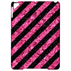 Stripes3 Black Marble & Pink Marble Apple Ipad Pro 9 7   Hardshell Case