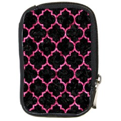 Tile1 Black Marble & Pink Marble Compact Camera Leather Case
