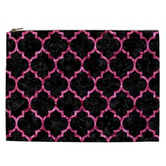Tile1 Black Marble & Pink Marble Cosmetic Bag (xxl)