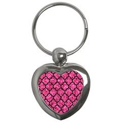 TIL1 BK-PK MARBLE (R) Key Chains (Heart)