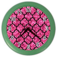 TIL1 BK-PK MARBLE (R) Color Wall Clocks