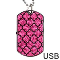TIL1 BK-PK MARBLE (R) Dog Tag USB Flash (Two Sides)
