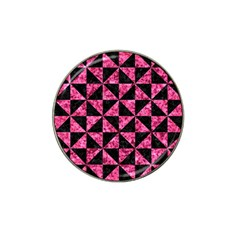 Triangle1 Black Marble & Pink Marble Hat Clip Ball Marker