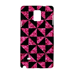 Triangle1 Black Marble & Pink Marble Samsung Galaxy Note 4 Hardshell Case