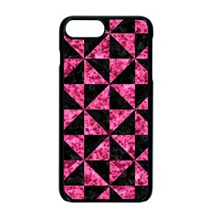 Triangle1 Black Marble & Pink Marble Apple Iphone 7 Plus Seamless Case (black)