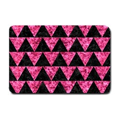 Triangle2 Black Marble & Pink Marble Small Doormat