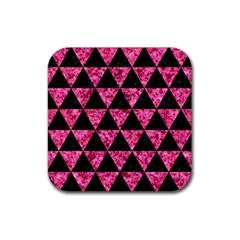 TRI3 BK-PK MARBLE Rubber Coaster (Square)