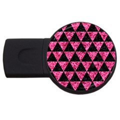 Triangle3 Black Marble & Pink Marble Usb Flash Drive Round (2 Gb)