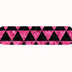 Triangle3 Black Marble & Pink Marble Large Bar Mat