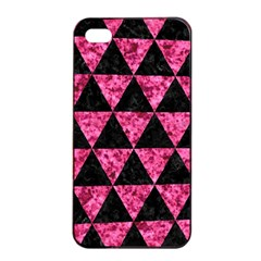 Triangle3 Black Marble & Pink Marble Apple Iphone 4/4s Seamless Case (black)