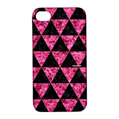 TRI3 BK-PK MARBLE Apple iPhone 4/4S Hardshell Case with Stand