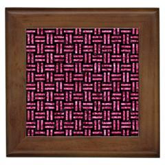 WOV1 BK-PK MARBLE Framed Tiles