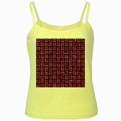 Woven1 Black Marble & Pink Marble Yellow Spaghetti Tank