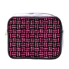 WOV1 BK-PK MARBLE Mini Toiletries Bags