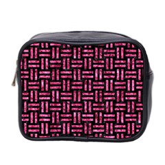 WOV1 BK-PK MARBLE Mini Toiletries Bag 2-Side