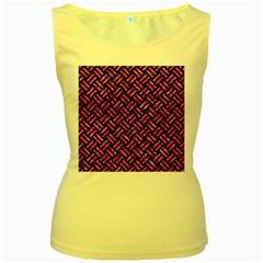 WOV2 BK-PK MARBLE Women s Yellow Tank Top