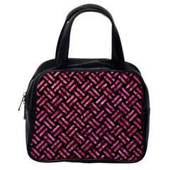 WOV2 BK-PK MARBLE Classic Handbags (One Side)