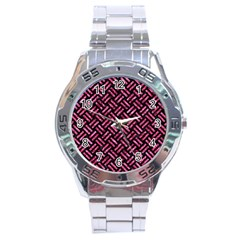 WOV2 BK-PK MARBLE Stainless Steel Analogue Watch
