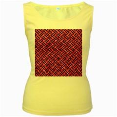 WOV2 BK-PK MARBLE (R) Women s Yellow Tank Top