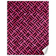 Woven2 Black Marble & Pink Marble (r) Canvas 12  X 16