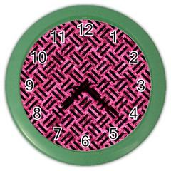 WOV2 BK-PK MARBLE (R) Color Wall Clocks