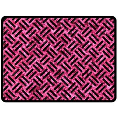 WOV2 BK-PK MARBLE (R) Double Sided Fleece Blanket (Large)