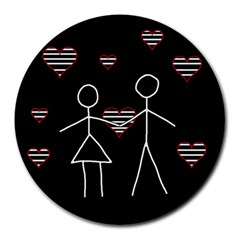 Couple in love Round Mousepads