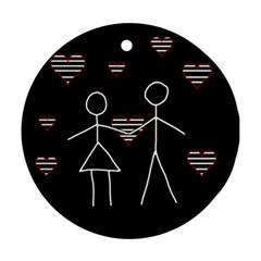 Couple in love Ornament (Round)