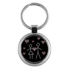 Couple in love Key Chains (Round)