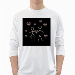 Couple in love White Long Sleeve T-Shirts