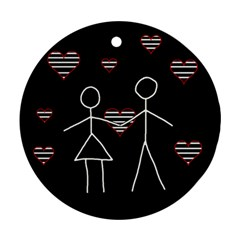 Couple in love Round Ornament (Two Sides)