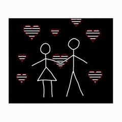 Couple in love Small Glasses Cloth (2-Side)