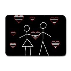 Couple in love Small Doormat