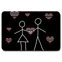 Couple in love Large Doormat