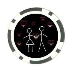 Couple in love Poker Chip Card Guards