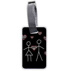 Couple in love Luggage Tags (One Side)
