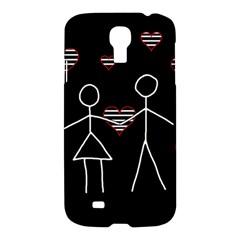 Couple in love Samsung Galaxy S4 I9500/I9505 Hardshell Case