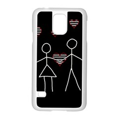 Couple in love Samsung Galaxy S5 Case (White)