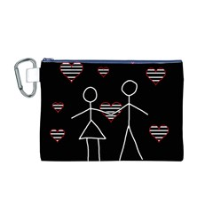 Couple in love Canvas Cosmetic Bag (M)