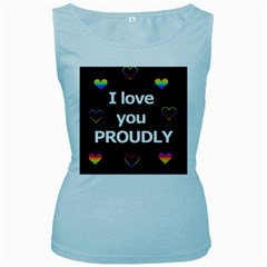 Proudly love Women s Baby Blue Tank Top