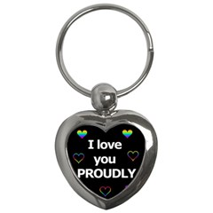 Proudly love Key Chains (Heart)